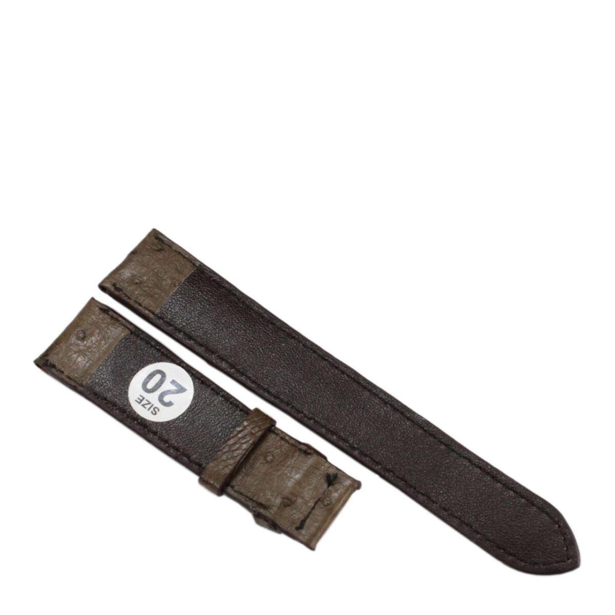 Dây đồng hồ da đà điểu E903a