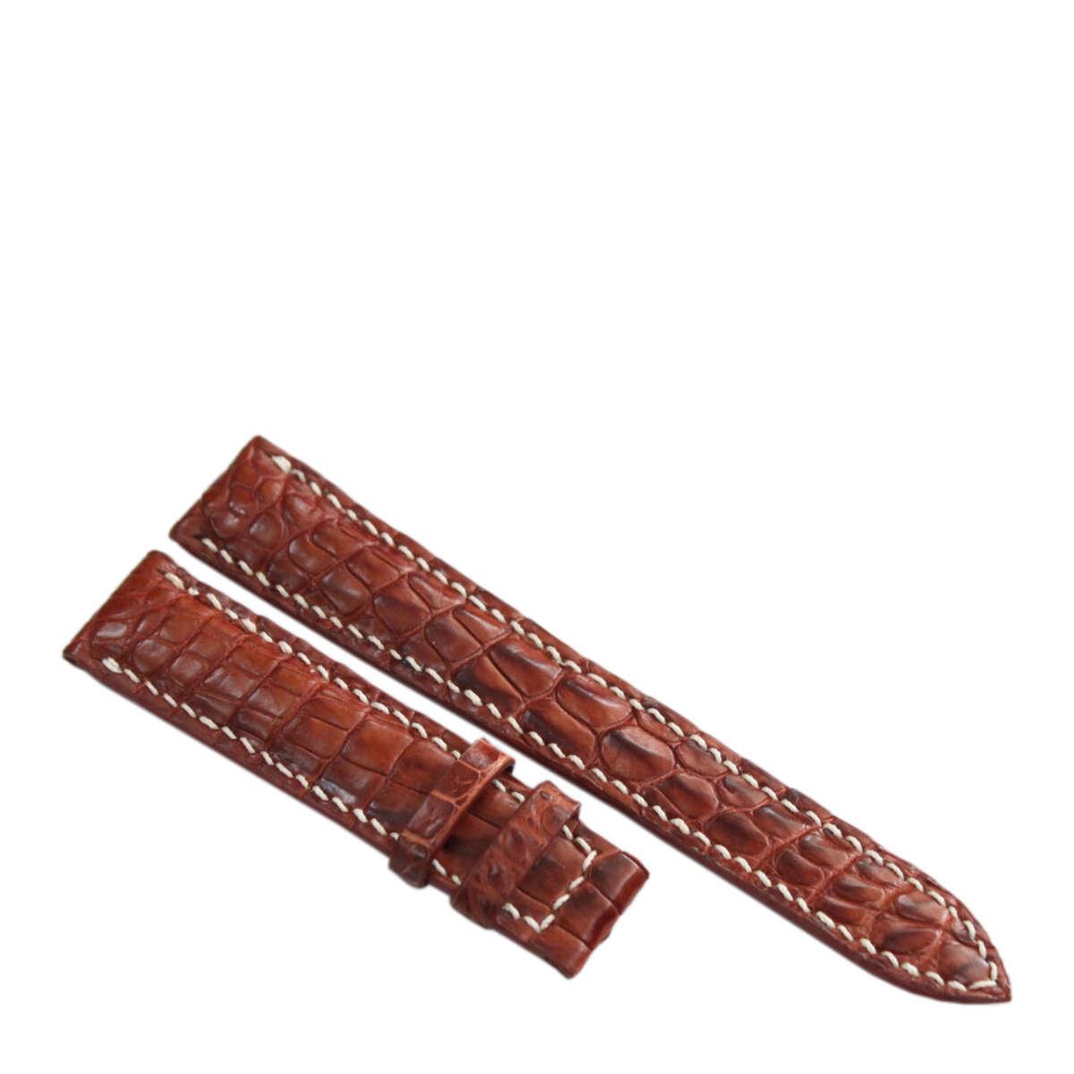Dây đồng hồ da cá sấu may tay S911d