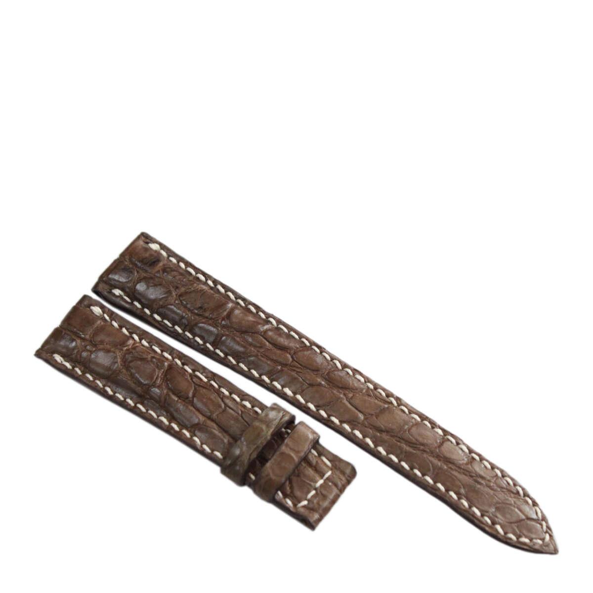 Dây đồng hồ da cá sấu may tay S911f