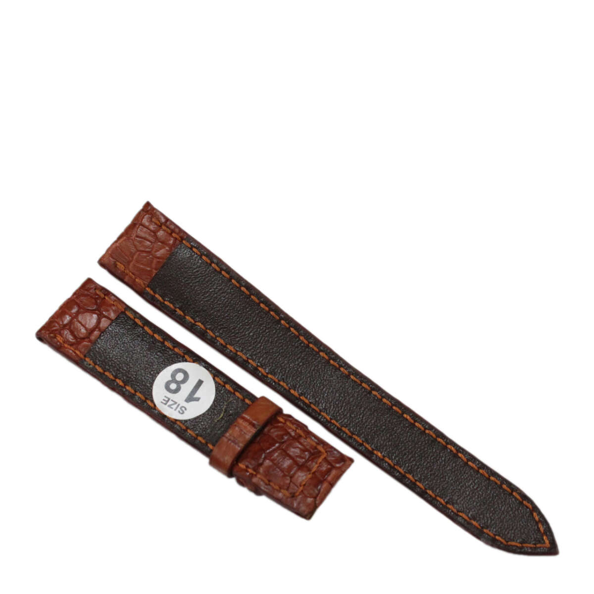 Dây đồng hồ da cá sấu may tay S911g