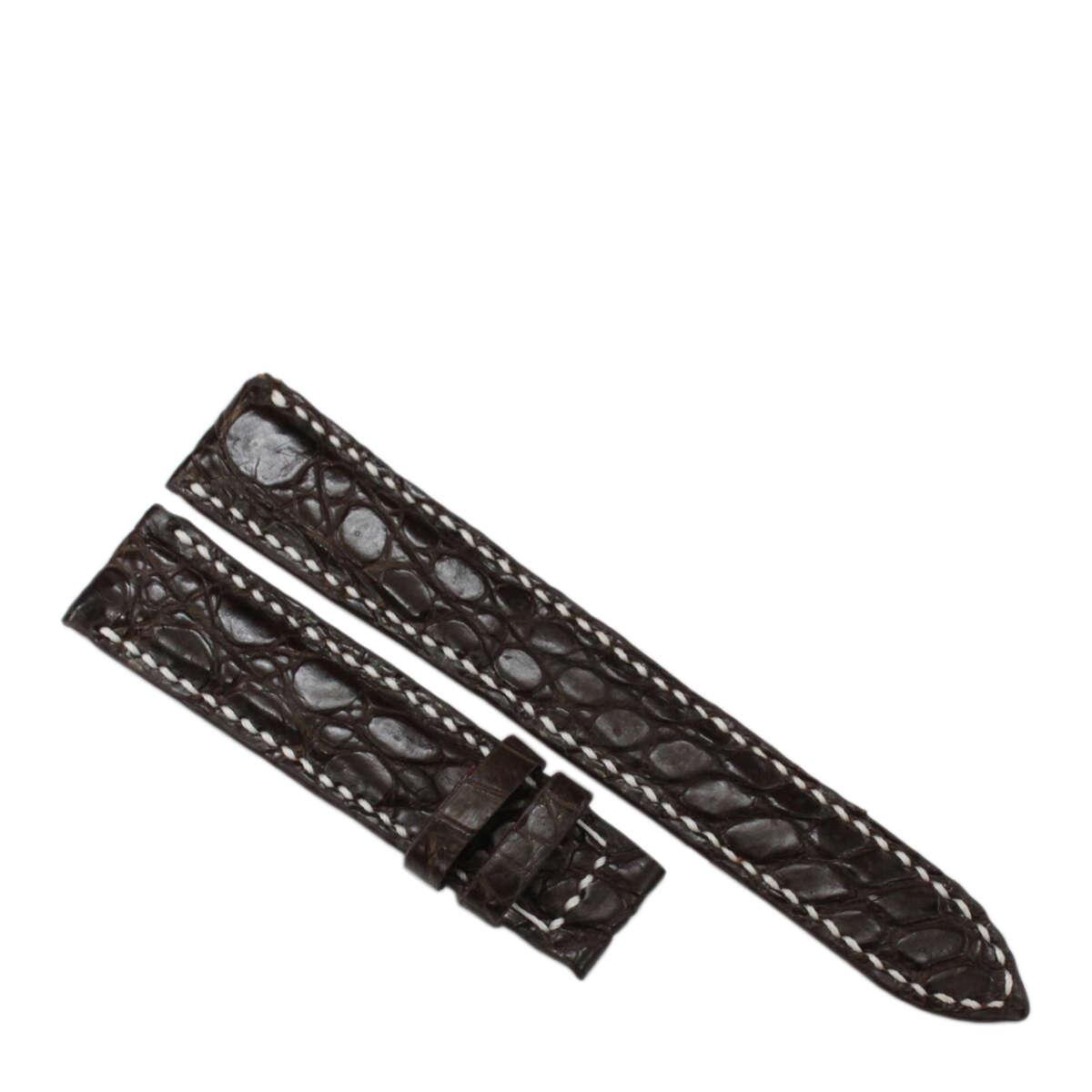 Dây đồng hồ da cá sấu may tay S911h