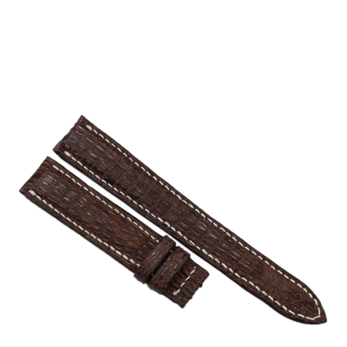 Dây đồng hồ da cá sấu may tay S922a