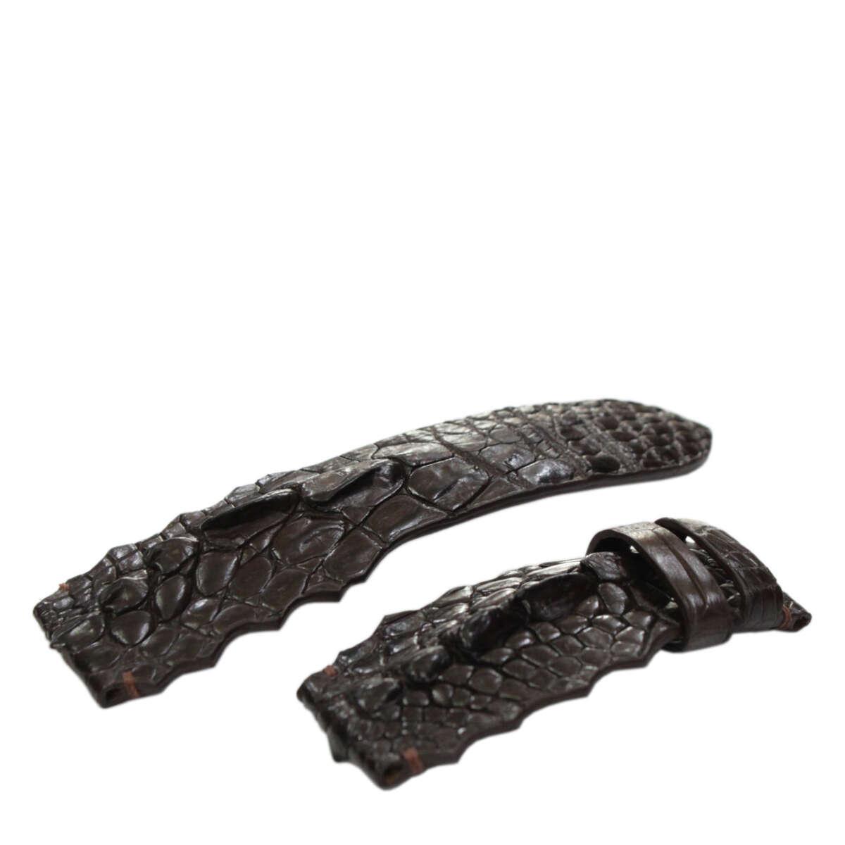 Dây đồng hồ da cá sấu S932a