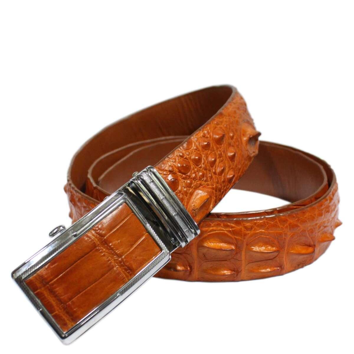 Crocodile leather belt S602c