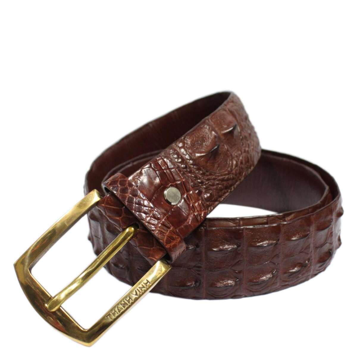 Crocodile leather belt S604a