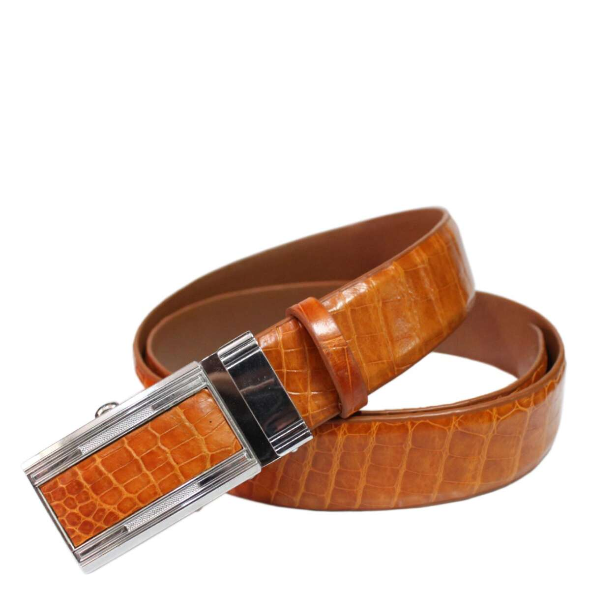 Crocodile leather belt S607c