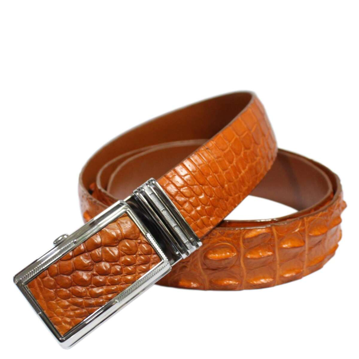 Crocodile leather belt S608b