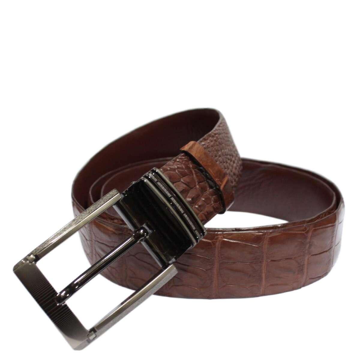 Men's crocodile leather belt S609a