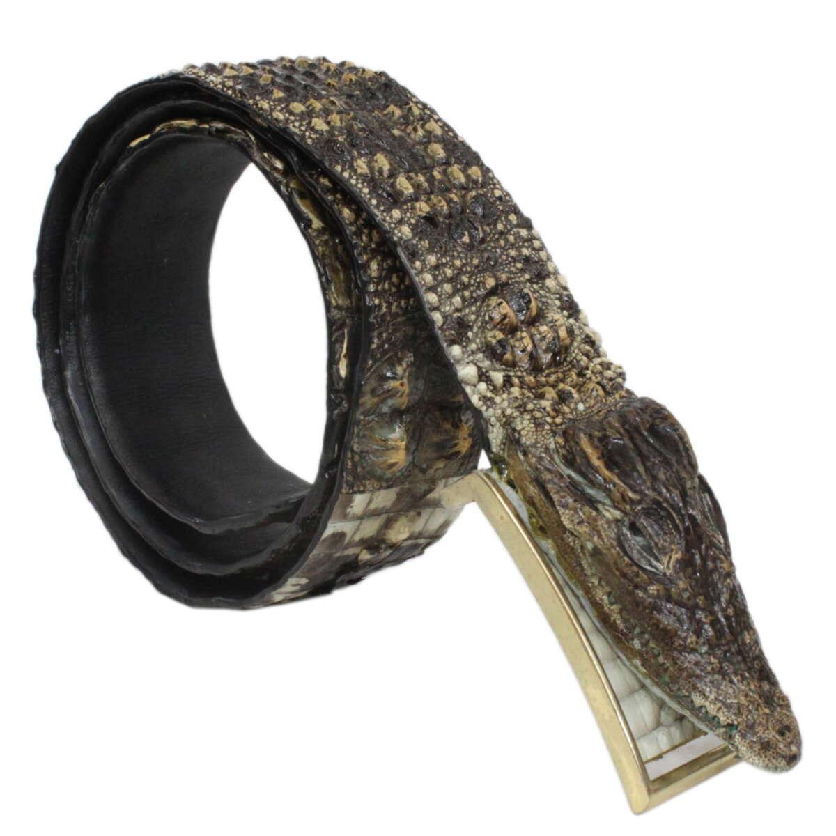Dây nịt nam da cá sấu nguyên thủy S617