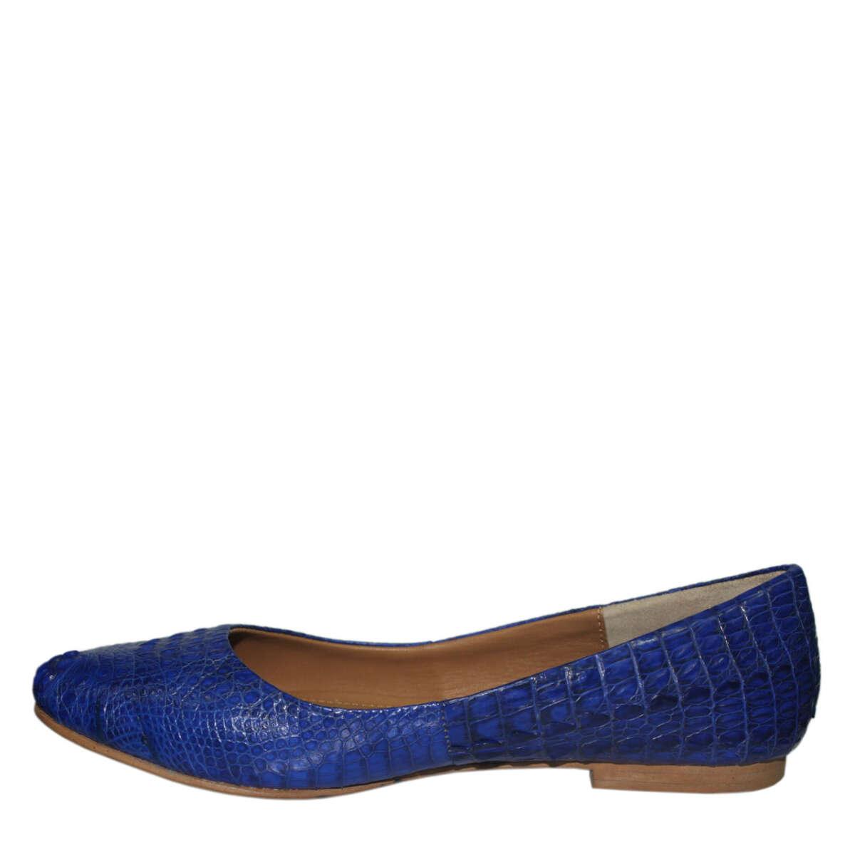 Giày bệt da cá sấu S761a