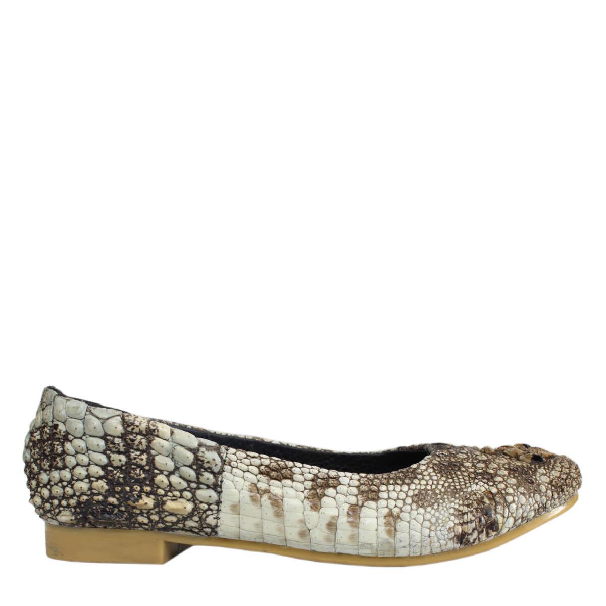 Giày bệt da cá sấu nguyên thủy S763