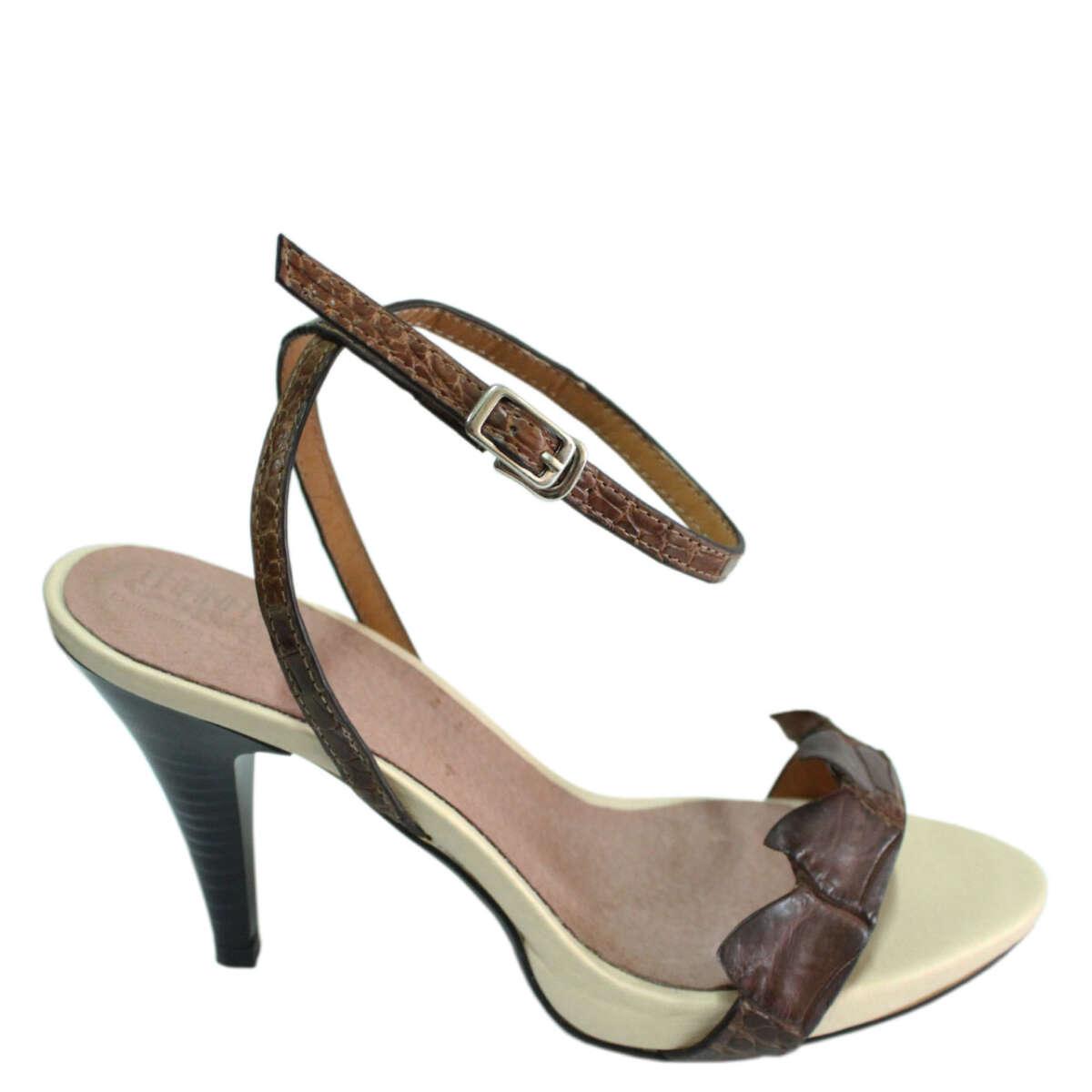 Giày cao gót da cá sấu S771a