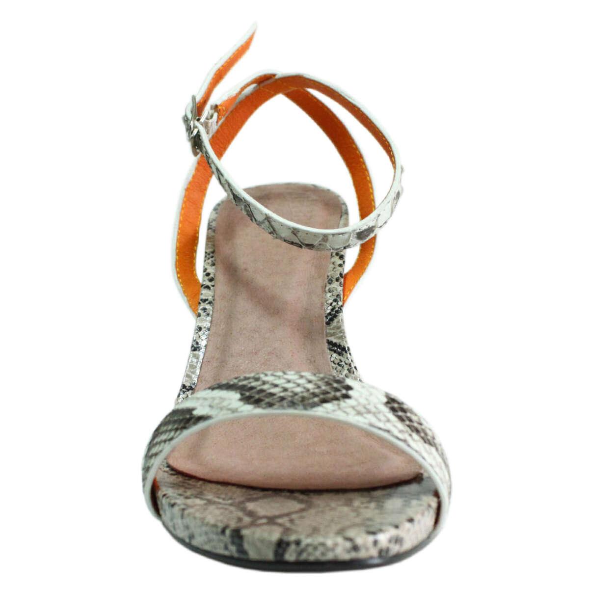 Giày cao gót da trăn T771