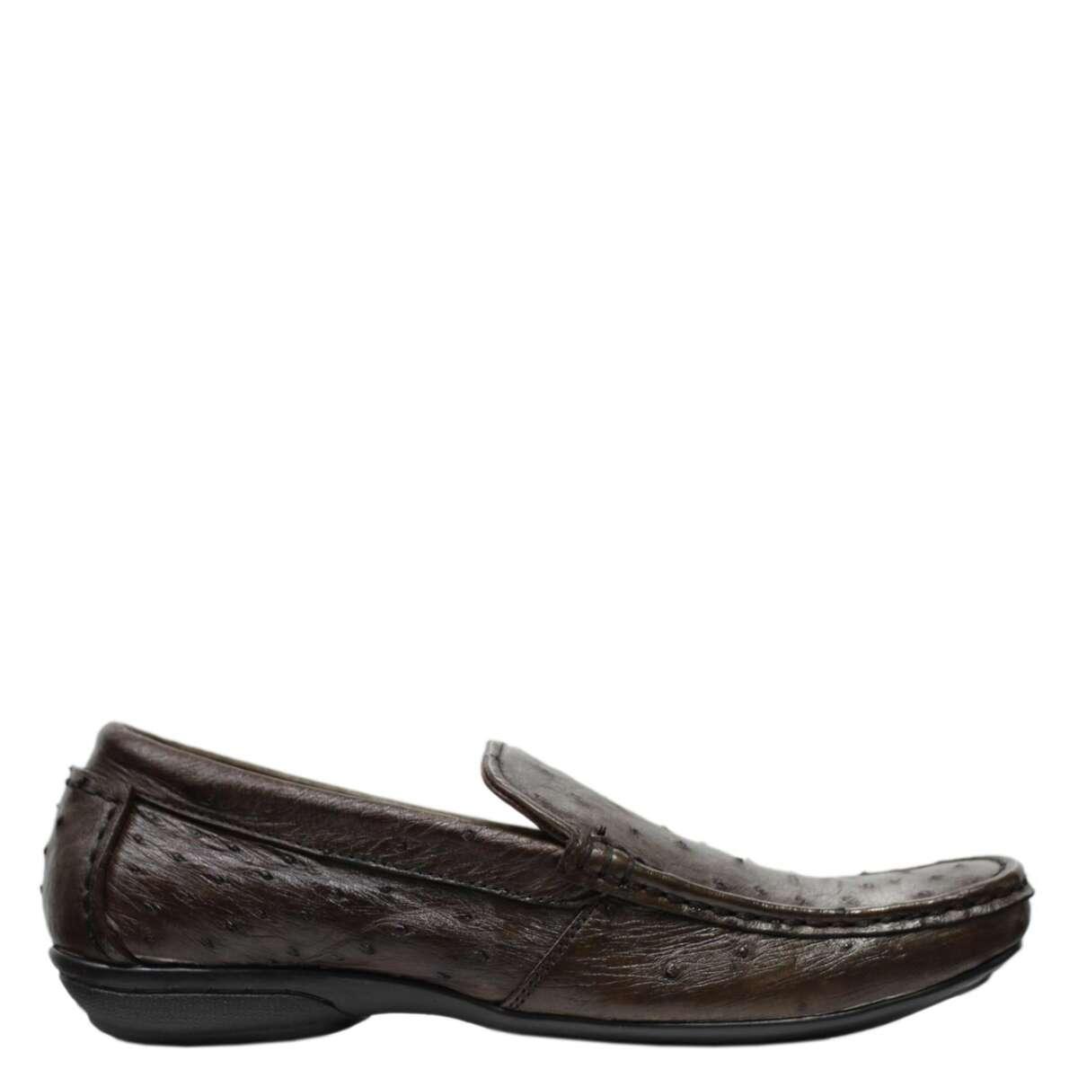 Giày lười nam da đà điểu E861b
