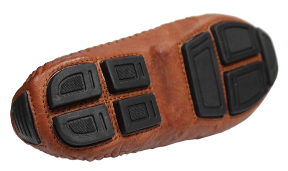 Giày lười nam da đà điểu đế âm E862a