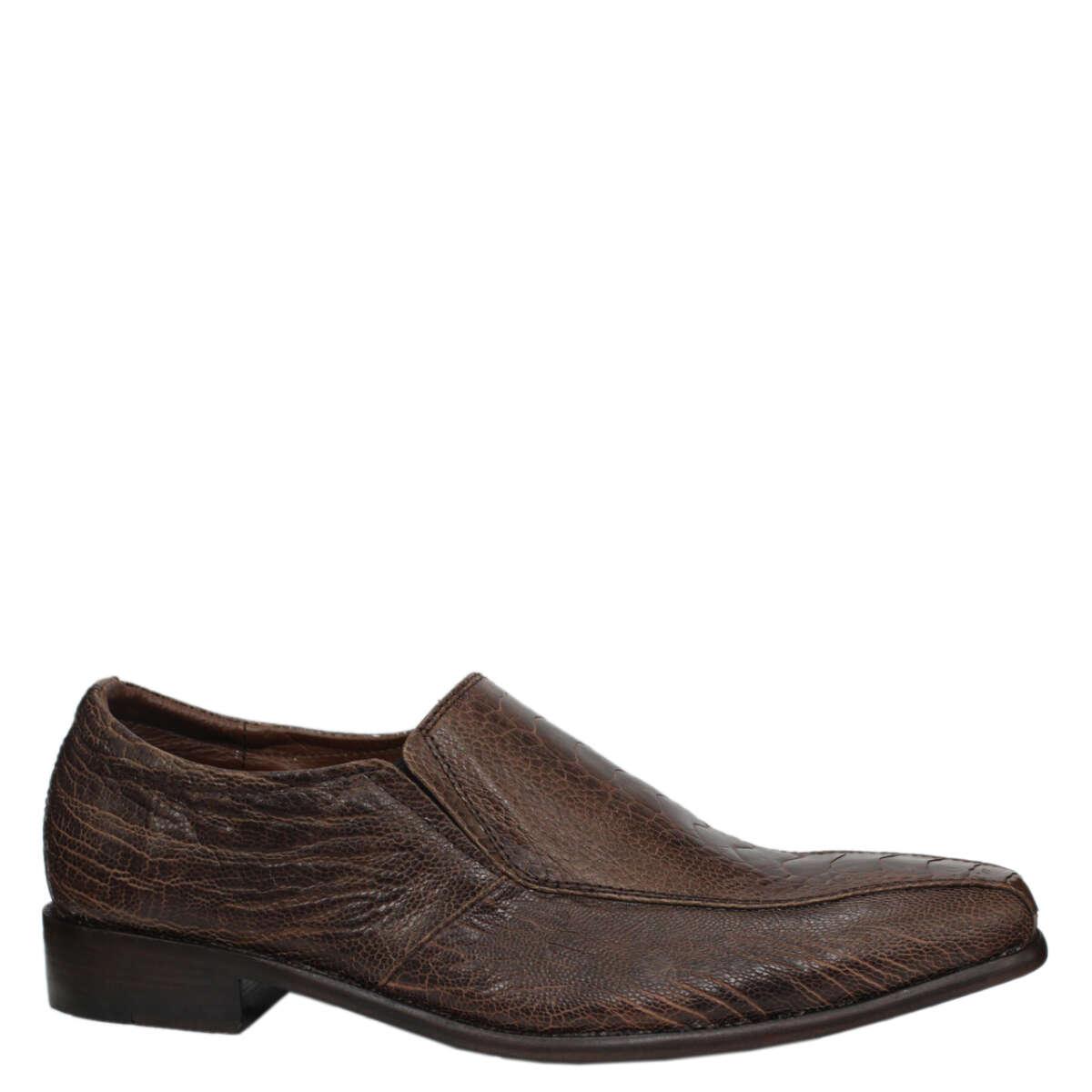 Giày nam da đà điểu E863a