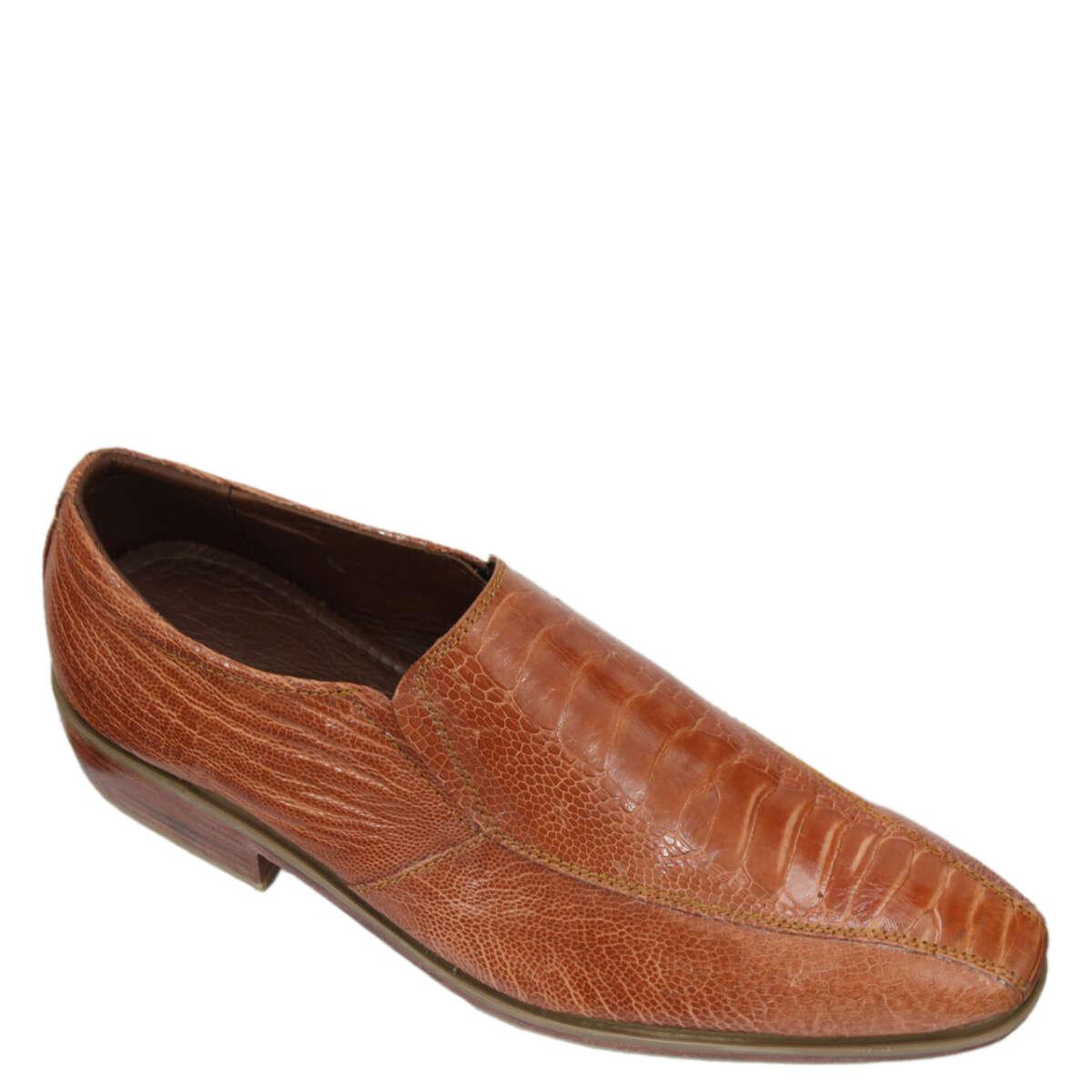 Giày nam da đà điểu E863b