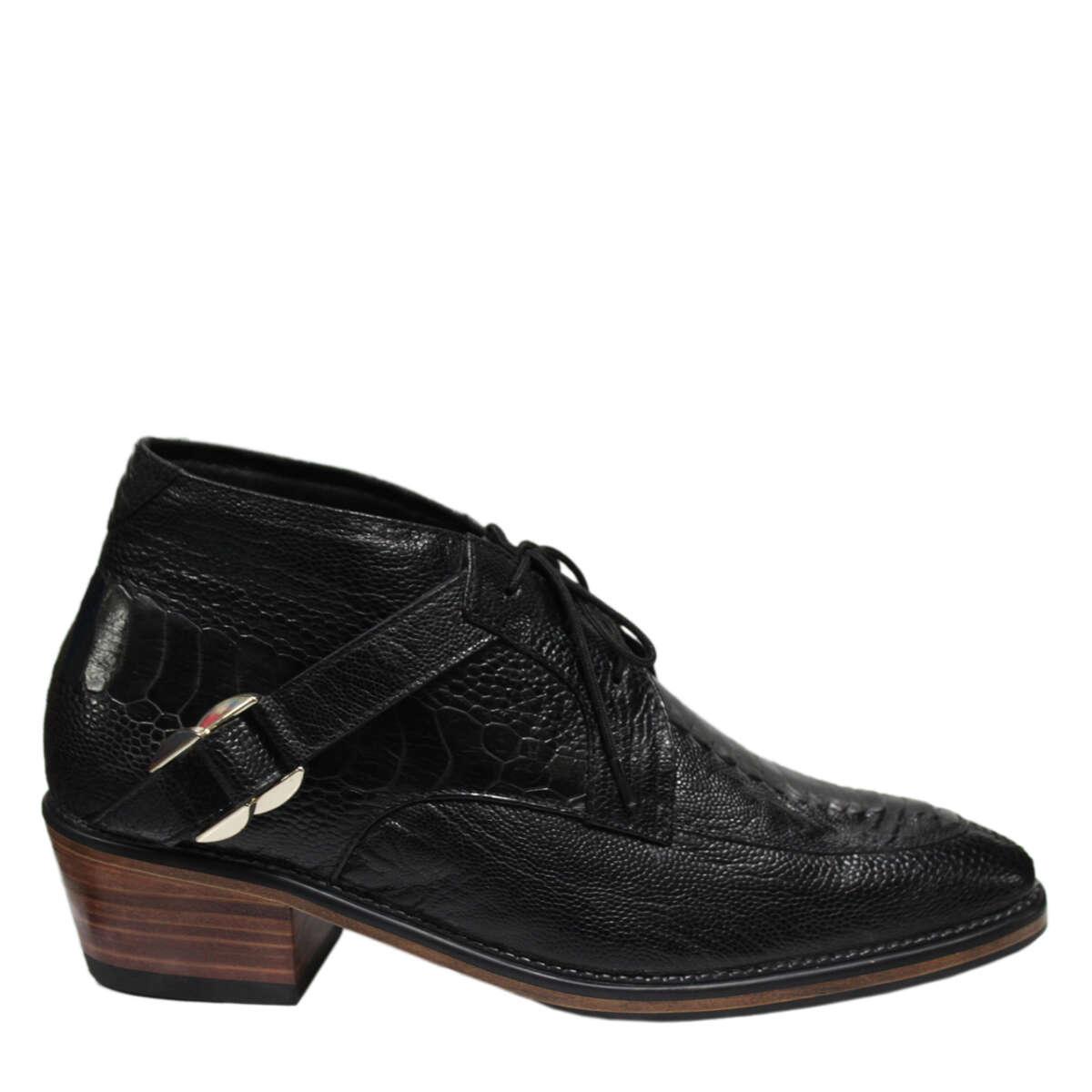 Giày nam da đà điểu E865a