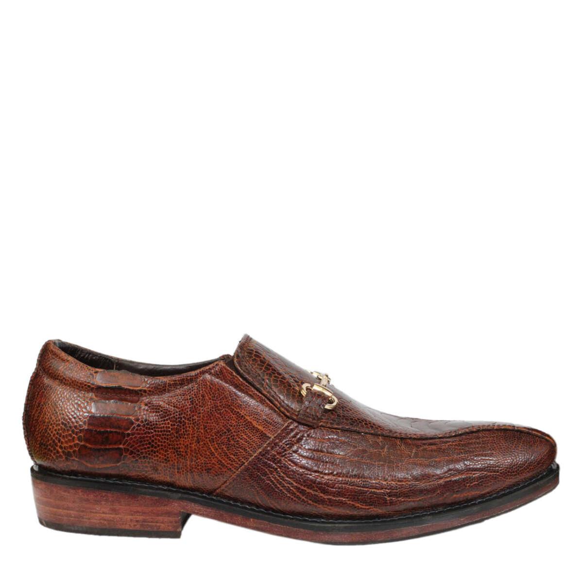 Giày nam da đà điểu E866a