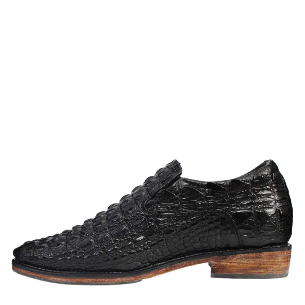 Giày tăng chiều cao nam da cá sấu S868a