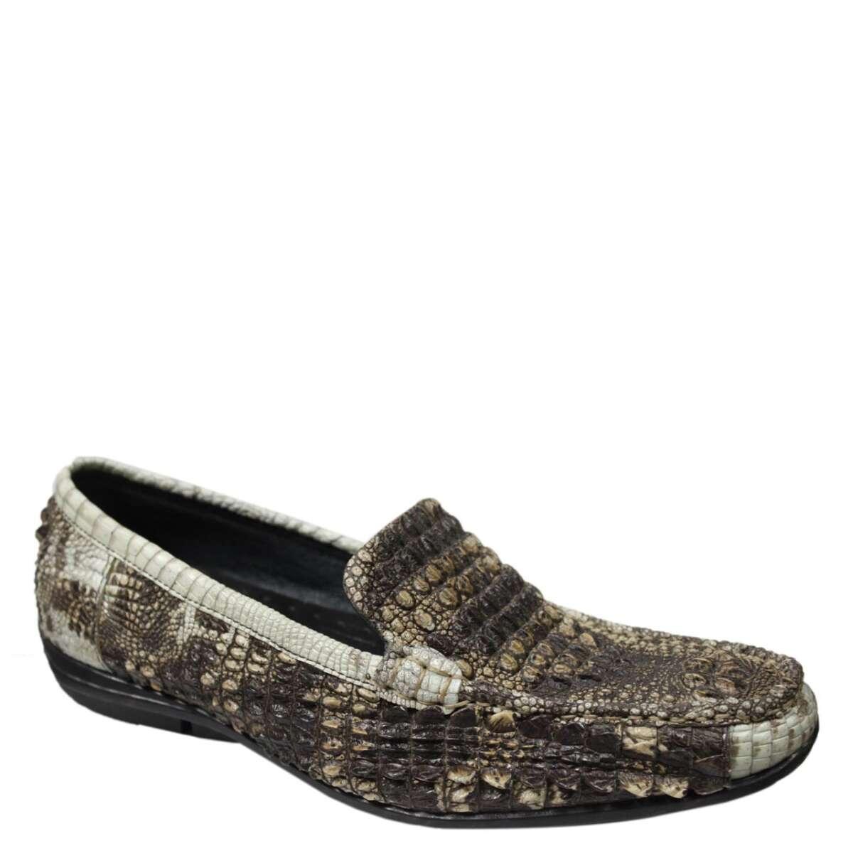 Giày lười nam da cá sấu nguyên thủy S871