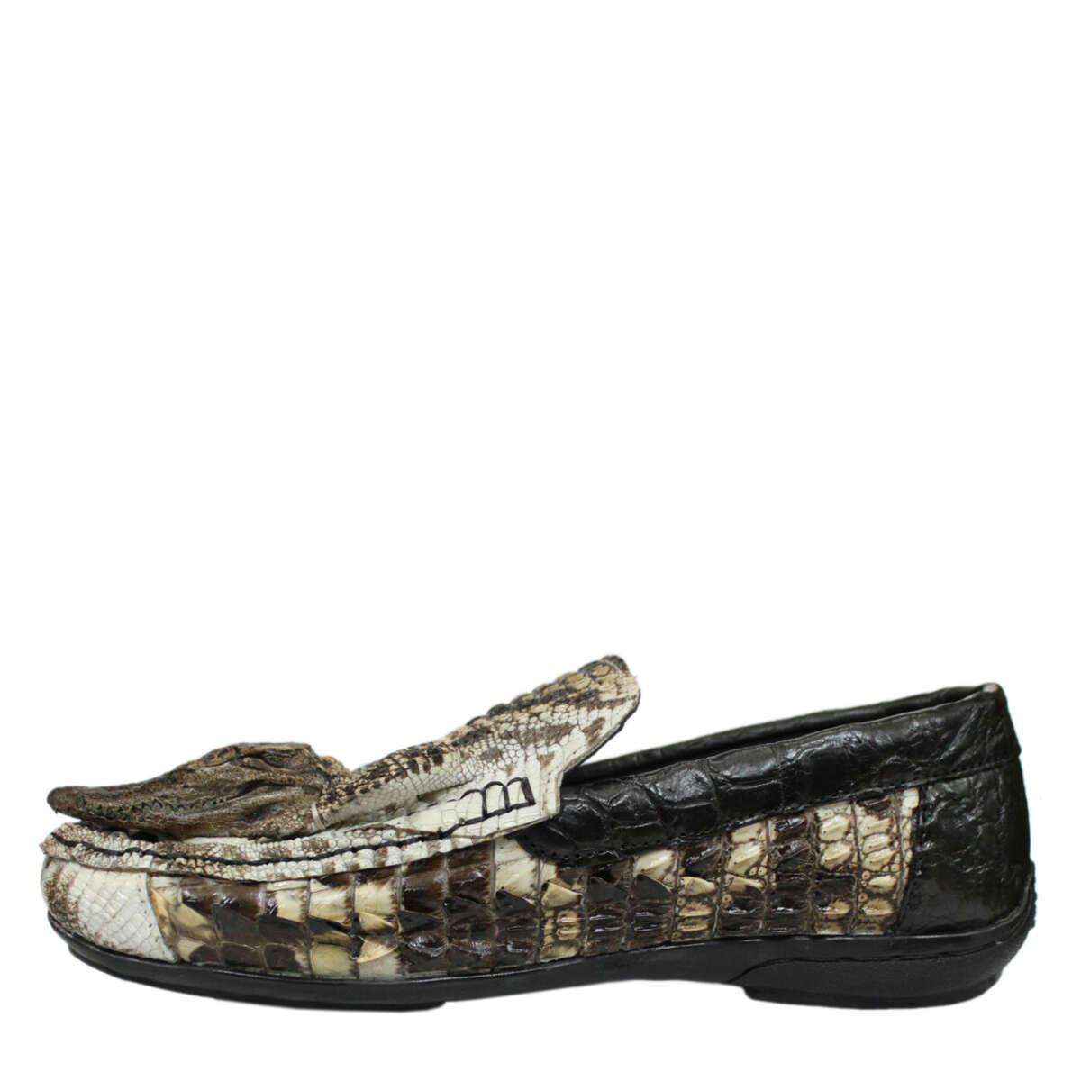 Giày lười nam da cá sấu nguyên thủy S873