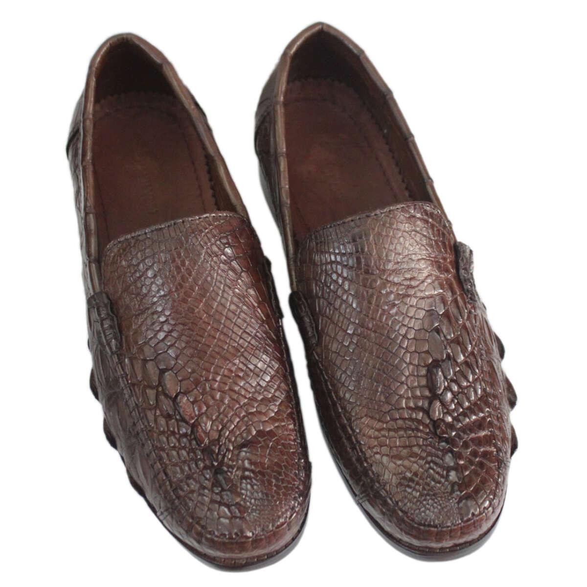 Giày lười nam da cá sấu S878a