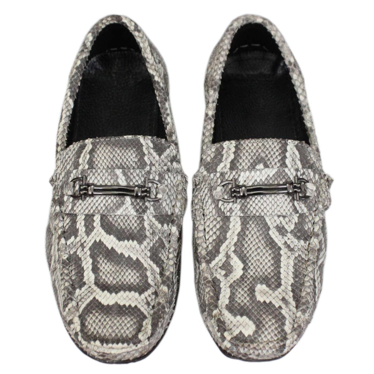 Giày lười nam da trăn T858a