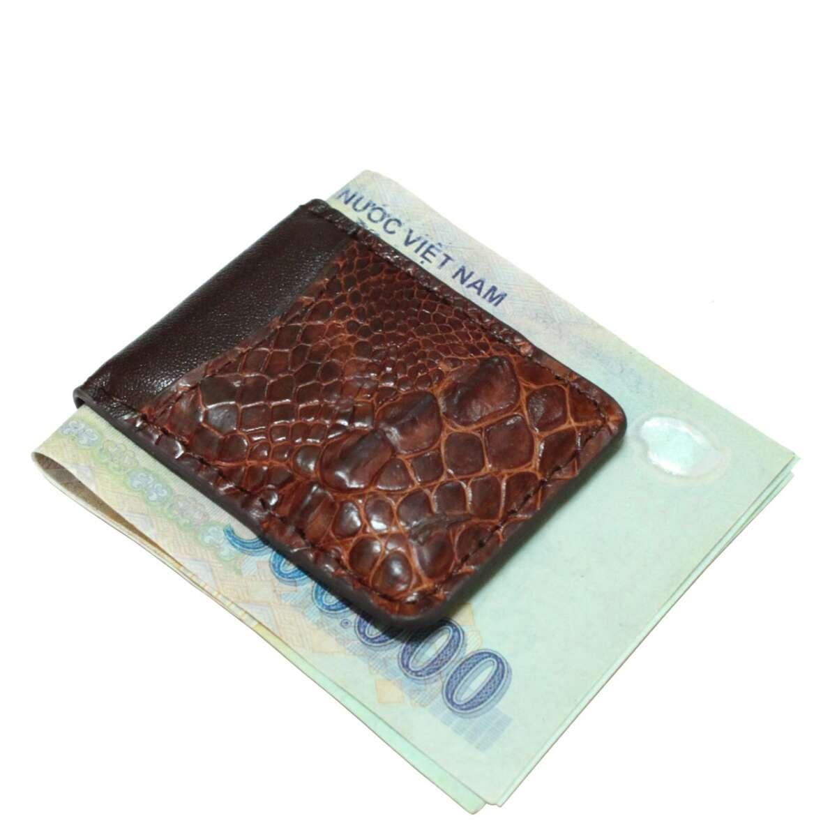 Kẹp tiền da cá sấu S941a
