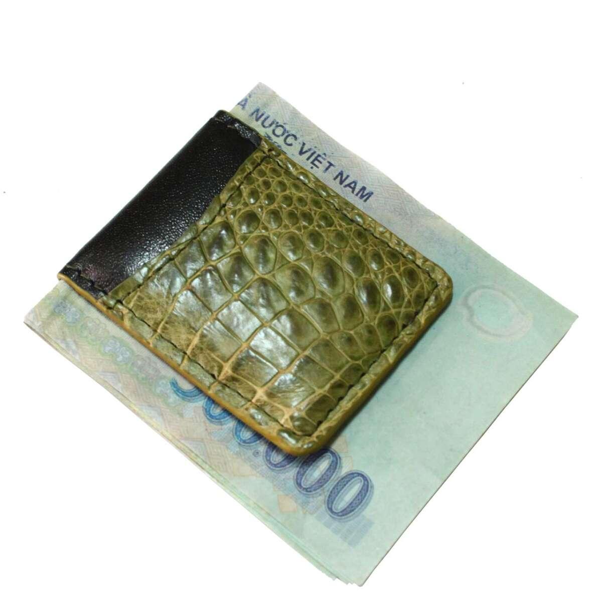 Kẹp tiền da cá sấu S941g