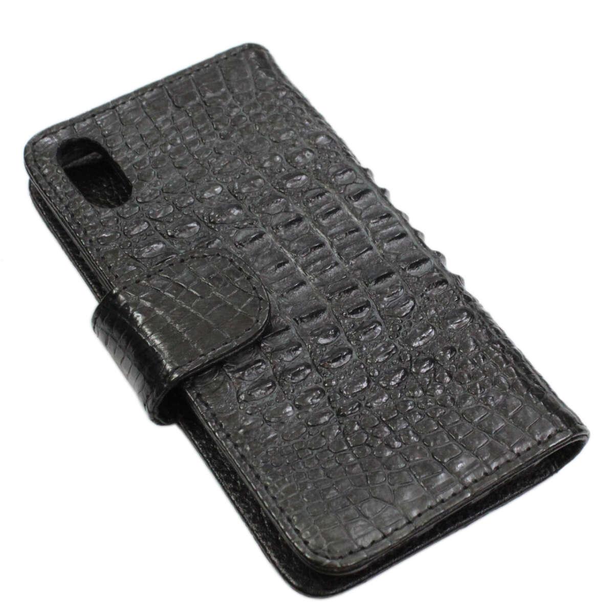 Ốp lưng dạng ví iPhone X/Xs da cá sấu S1041a