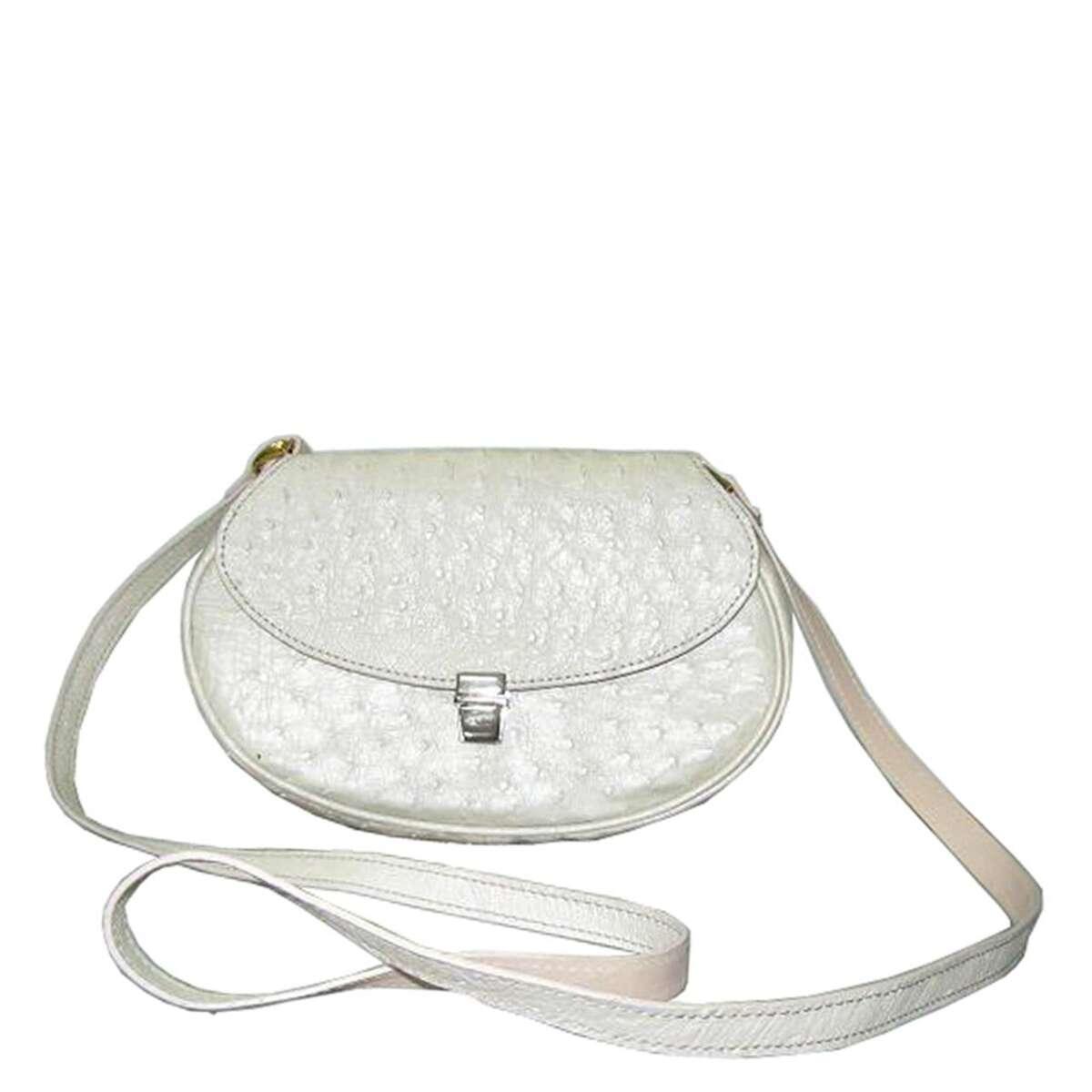 Túi đeo chéo nữ da đà điểu E121a