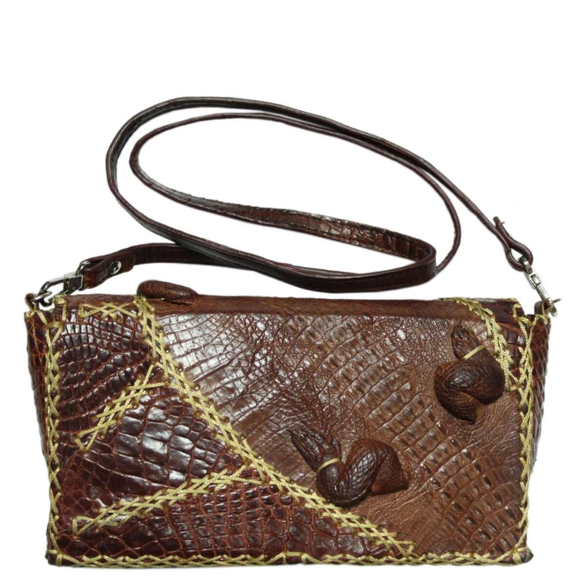 Túi đeo chéo nữ da cá sấu S123a