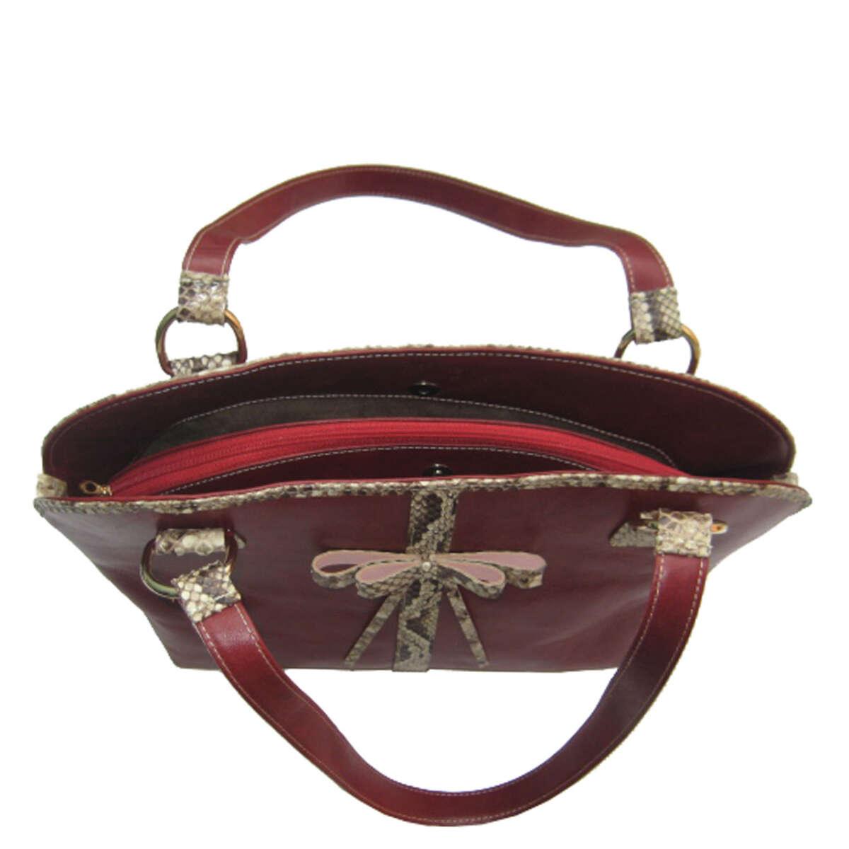 Túi xách nữ da bò phối da trăn B007b