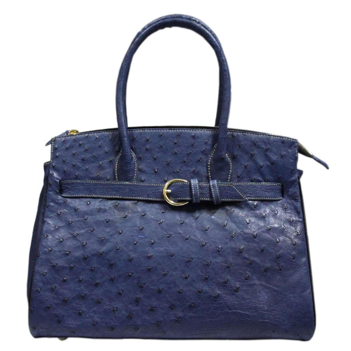 Ostrich leather handbag E007d