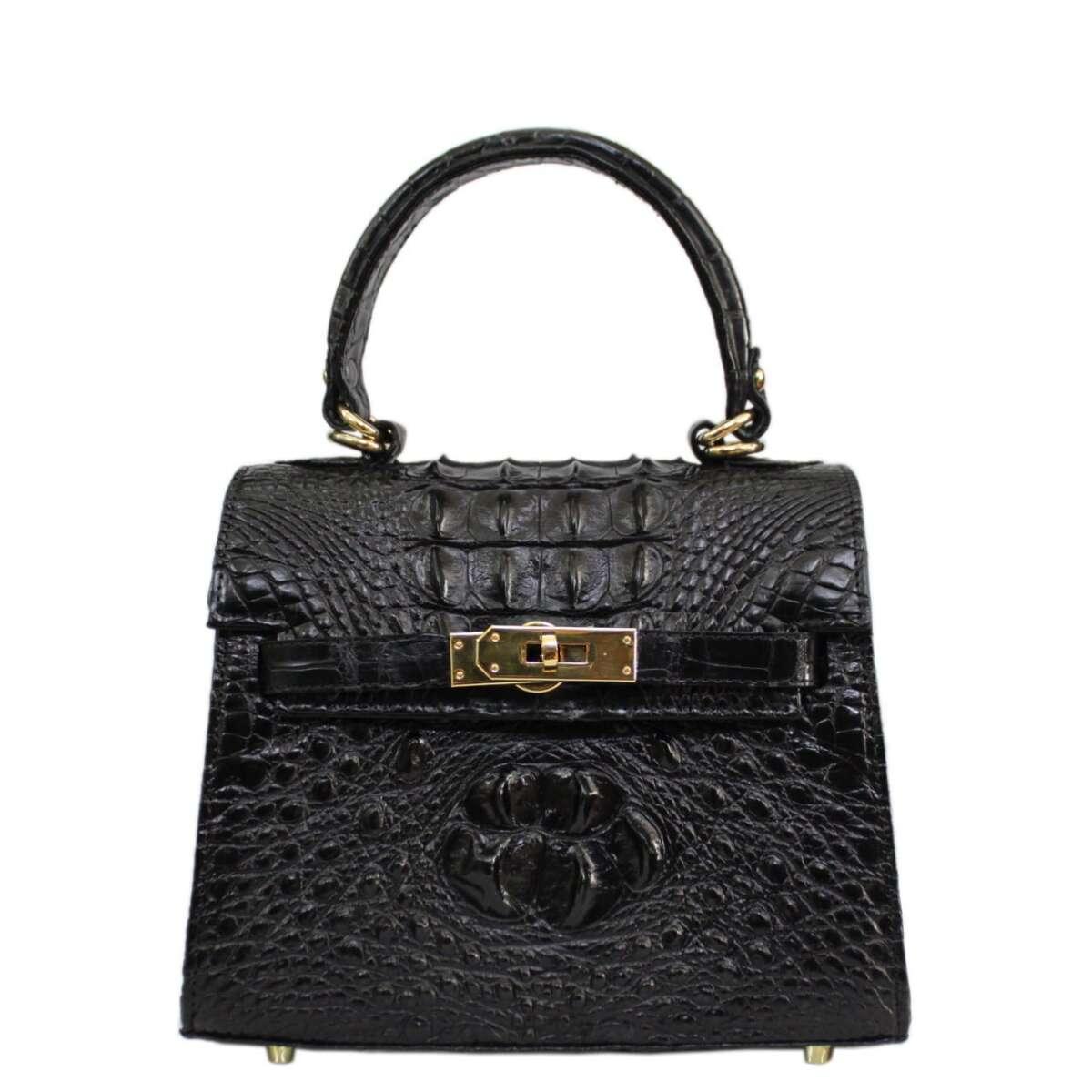 Crocodile leather handbag S042a