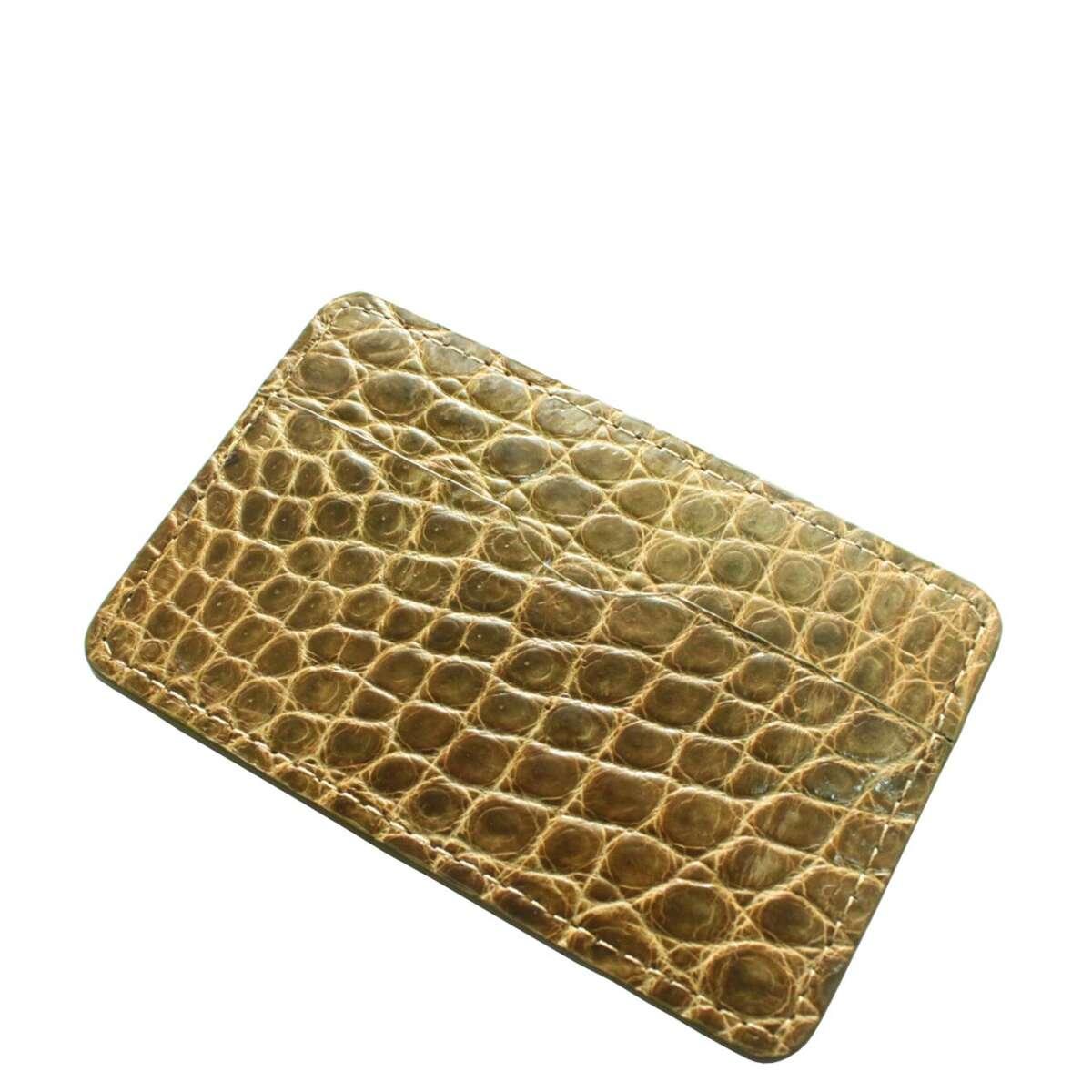 Кошелек для пластиковых карт из кожи крокодила S961c
