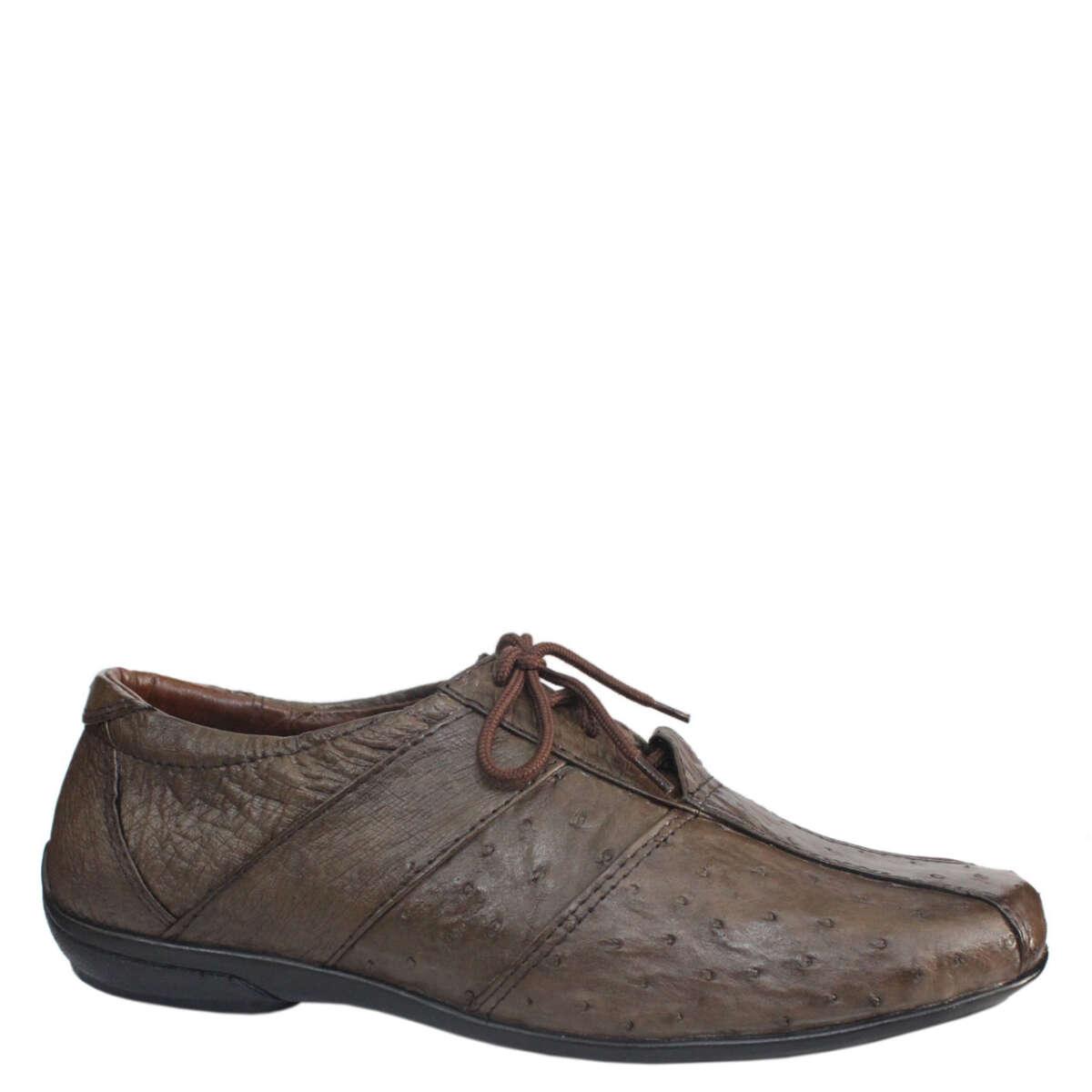Giày nam da mình đà điểu E867a